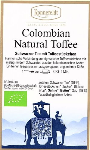 Colombian Natural Toffee - Ronnefeldt